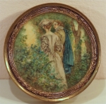 Erotic miniature on ivory